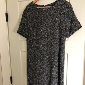 Brooks Brother lined multicolor short sleeve dress